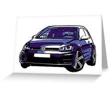 Awesome VOLKSWAGEN R GTI GT GTD VAG VW JDM - Street Car sports hatchback art Graffiti Popart  warhol Greeting Card