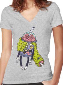 Brainshake Women's Fitted V-Neck T-Shirt