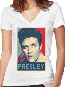 Elvis Presley Women's Fitted V-Neck T-Shirt