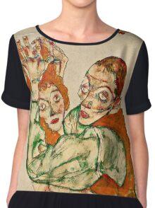 Egon Schiele - Lovemaking (1915)  Chiffon Top