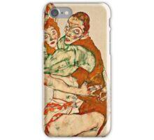 Egon Schiele - Lovemaking (1915)  iPhone Case/Skin