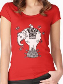 White Elephant T-Shirt Women's Fitted Scoop T-Shirt