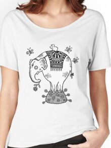 White Elephant T-Shirt Women's Relaxed Fit T-Shirt