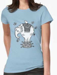 White Elephant T-Shirt Womens Fitted T-Shirt