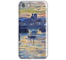 Claude Monet - Port of Dieppe, Evening (1882)  iPhone Case/Skin