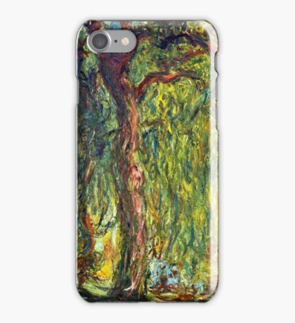 Claude Monet - Weeping Willow (1918–19)  iPhone Case/Skin