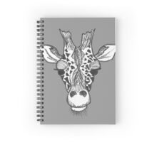Apathetic Giraffe  Spiral Notebook