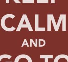 Keep Calm and Go To Wawa Sticker