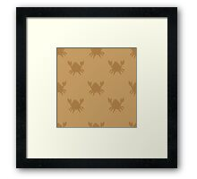 Crabs on brown Framed Print