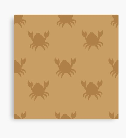 Crabs on brown Canvas Print