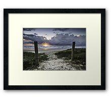 Welcome to Sunrise - Lennox Head Framed Print