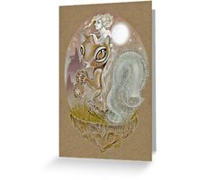 The Squirrel and the Wild Girl Greeting Card