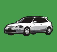 Awesome HONDA CIVIC TYPE R ek9 integra prelude VW JDM - Street Car sports hatchback art Graffiti Popart  warhol Kids Tee
