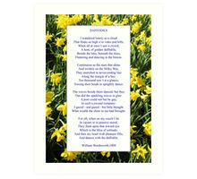 "Wordsworth's ""Daffodils"", especially good as a card. Art Print"