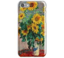 Claude Monet - Sunflowers 2  iPhone Case/Skin