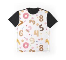 Numbers like sweets and buns seamless pattern Graphic T-Shirt