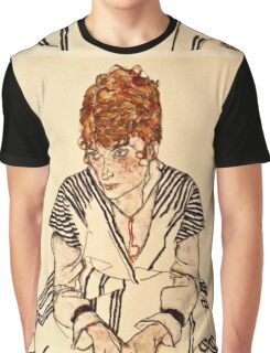 Egon Schiele - Portrait of the Artists Sister in Law, Adele Harms, 1917  Graphic T-Shirt