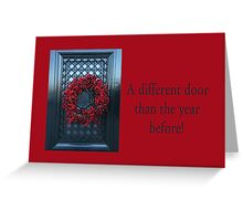 A Different door .... Christmas New Address Announcement Greeting Card