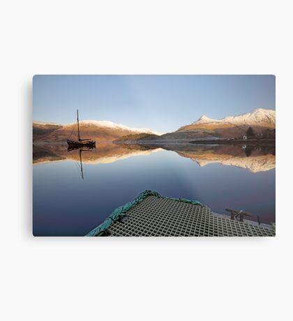 Loch Leven Reflection Metal Print