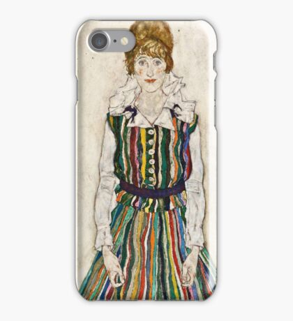 Egon Schiele - Portrait of Edith (the artists wife) (1915)  iPhone Case/Skin