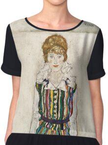 Egon Schiele - Portrait of Edith (the artists wife) (1915)  Chiffon Top