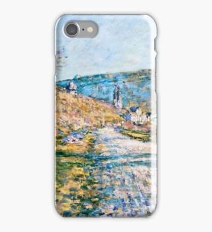 Claude Monet - The Road to Vetheuil (1879)  iPhone Case/Skin