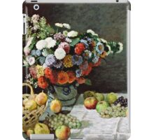 Claude Monet - Still Life with Flowers and Fruit (1869)  iPad Case/Skin