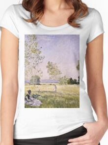 Claude Monet - Summer (1874)  Women's Fitted Scoop T-Shirt
