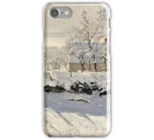 Claude Monet - The Magpie (1868 - 1869)  iPhone Case/Skin