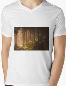 Morning forest Mens V-Neck T-Shirt