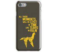 blade runner tears in the rain iPhone Case/Skin