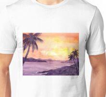 Sunset in the tropics Unisex T-Shirt