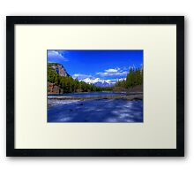 Bow River HDR, Canada Framed Print
