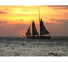 Sunset Sail in Key West Photographic Print