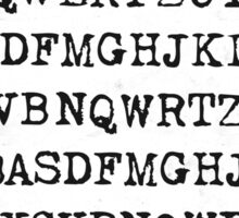 Old typewriter letters Sticker