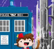 11th Doctor Pixel Art Sticker
