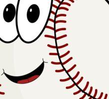 Happy cartoon baseball character Sticker