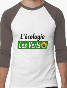 Europe Ecology, The Greens (Europe écologie – Les Verts EELV) Men's Baseball ¾ T-Shirt