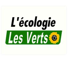 Europe Ecology, The Greens (Europe écologie – Les Verts EELV) Art Print