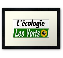 Europe Ecology, The Greens (Europe écologie – Les Verts EELV) Framed Print