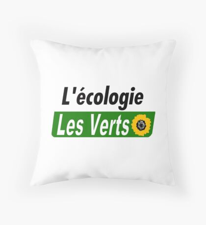 Europe Ecology, The Greens (Europe écologie – Les Verts EELV) Throw Pillow