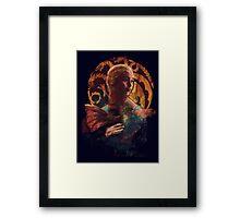 la dame au dragon Framed Print
