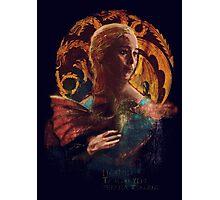 la dame au dragon Photographic Print