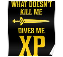 What Doesn't Kill Me Gives Me XP T Shirt Poster