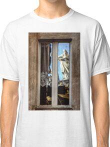 Statue reflection on window Classic T-Shirt