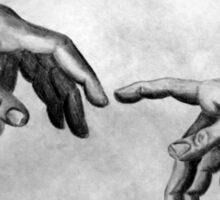 Michelangelo's Creation of Adam - Own Rendition Sticker
