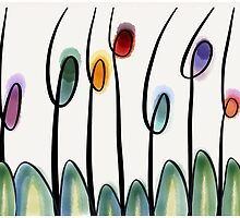 Modern art tulips  by goanna