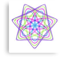 7 pointed spirograph 1 Canvas Print