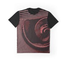 Red spiral, abstraction, visual, optical illusion Graphic T-Shirt