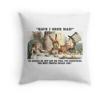 Alice and the Hatter Throw Pillow